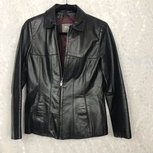 Wilsons leather vintage jacket full zip smalll
